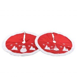 Christmas Tree Skirt Red & White 89cm