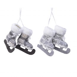 Christmas Decoration Ice Skate With Hanger 7cm