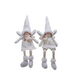Christmas Plush Angel White with Dangling Legs 16.5 x 8 x 40cm