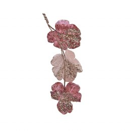 Christmas Garland Round Leaf With Glitter Soft Terracotta 20 x 120cm