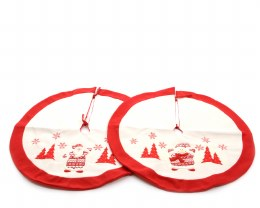 Christmas Tree Skirt Red & White 90cm