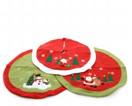 Christmas Tree Skirt Green & Red or Red & White 90cm
