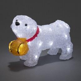 Konstsmide Acrylic St Bernard Puppy - Battery Operated