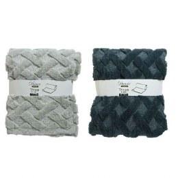 Christmas Luxury Fleece Throw Beige or Blue Stone Fleece 130x150cm
