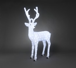 Konstsmide Acrylic Standing Reindeer with 184 Ice White LED Lights 130cm