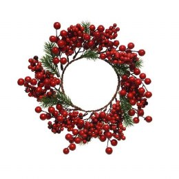 Christmas Wreath Pine Red Berries 28 x 9cm