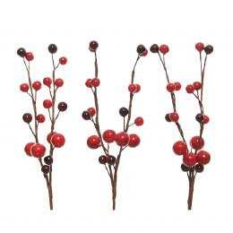 Christmas Foam Two Tone Berry on Wire Pick 8cm