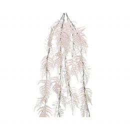 Christmas Asparagus Bush with Glitter and Snow Finish Blush Pink 35x105cm