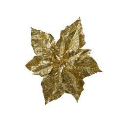 Artificial Decoration Poinsettia On Clip 23cm