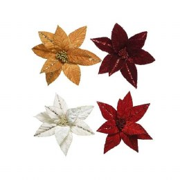 Christmas Decoration Velvet Poinsettia 32cm