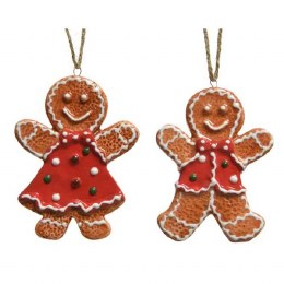Christmas Decoration Gingerbread Doll 9cm