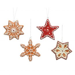 Christmas Decoration Cookie Star and Snowflake with Hanger