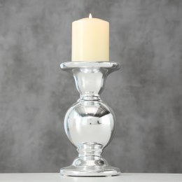 Christmas Candle Holder Dolomite Silver 17cm Tall