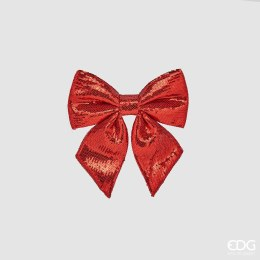 Christmas Red Sequin Bow Small 21cm