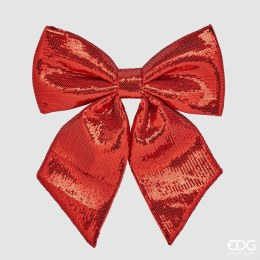 Christmas Red Sequin Bow Large 31cm
