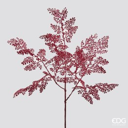 Christmas Deep Pink Metallic Fern Stem Large 89cm