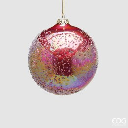 Christmas Garnet Rainbow Bauble with Hanger Small 12cm