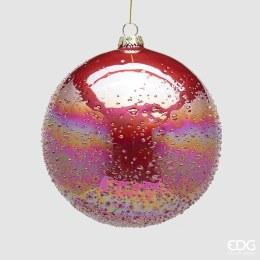 Christmas Garnet Rainbow Bauble with Hanger Large 15cm