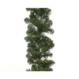 270cm Imperial Christmas Garland Pine Pre Lit 50 Lights Battery Operated 25 x 270cm
