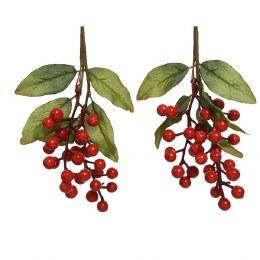 Artificial Berries Hanger Red 22cm