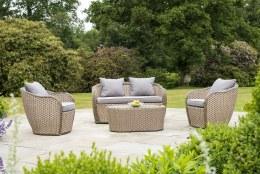 Alexander Rose Bespoke Grand 4 Seater Rattan Sofa Lounge Set