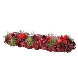 Christmas Candle Holder with Pinecones 15x47x9cm