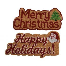 Christmas Doormat made of Coir with Text