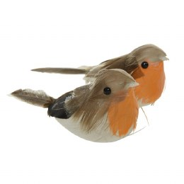 Christmas Feather Robin Bird 11cm