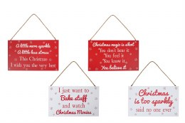 Christmas Festive Red or White Plaque