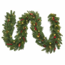 9 Foot Everyday Pre-Lit Artificial Christmas Garland With 50 Warm White Battery Operated Lights With Timer