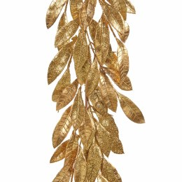 Christmas Garland Leaf Gold Glitter 183cm
