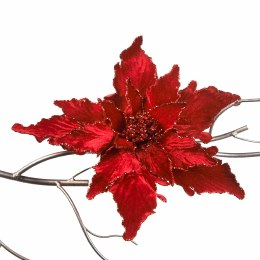 Christmas Red Glitter Poinsettia Clip 45cm