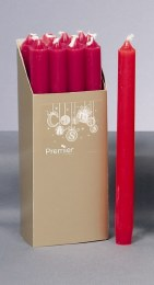 Christmas Dinner Candles Pack of 12 Red 25cm