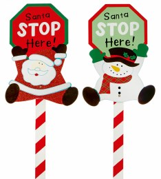 Christmas Sign Santa Stop Here 100cm