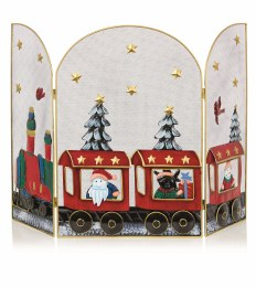 Christmas Fireguard with Red Train 63cm