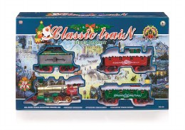 Christmas Classic Train Set 20 Piece on 4.30m Base With Sound & Light - Battery Operated