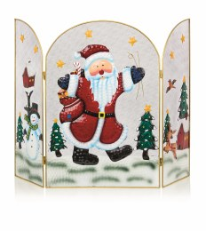 Christmas Fireguard with Santa 63cm