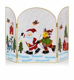 Christmas Fireguard with Santa and Reindeer