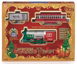 Christmas Classic Train Set 23 Piece on 3.3m Base With Sound & Light - Battery Operated