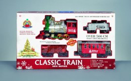 Christmas Classic Train Set 24 Piece on 5m Base With Sound & Light - Battery Operated