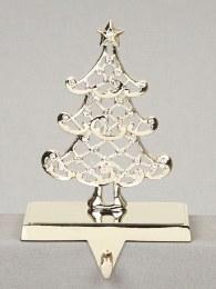 Christmas Stocking Holder Tree Silver 18cm