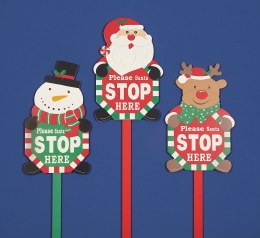 Christmas Sign 'Santa Stop Here' 1m