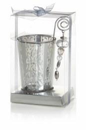Christmas Silver Tealight Holder 11cm