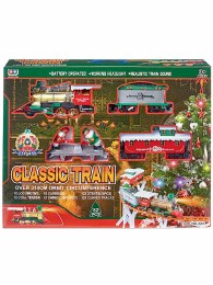 Christmas Classic Train Set 52 Piece on 3.14m Base with Sound and Light - Battery Operated