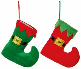 Christmas Elf Boot Red or Green Hanging Decor 15cm
