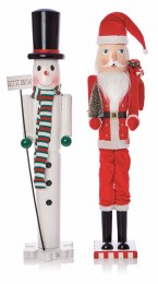 Christmas Nutcracker Wooden Santa or Snowman 90cm