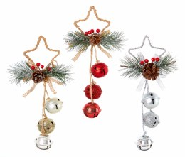 Christmas Bell Star Shape Hanging Decoration 26cm