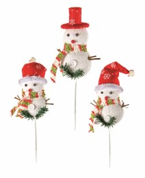 Christmas Pick Snowman 21cm