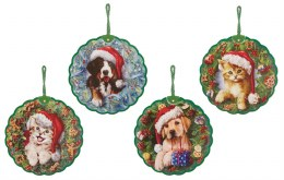 Christmas Bauble Cat or Dog 20cm