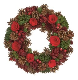 20 Inch Woodland Pine Cone Artificial Christmas Wreath
